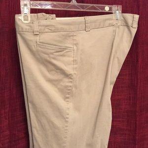 Old navy khaki stretch slacks size 18